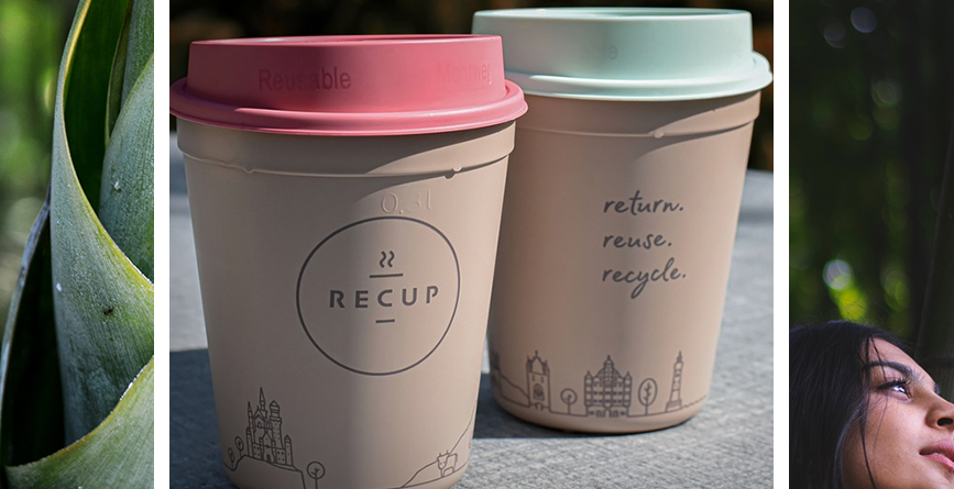 reusable promotional items image of two eco-friendly cups