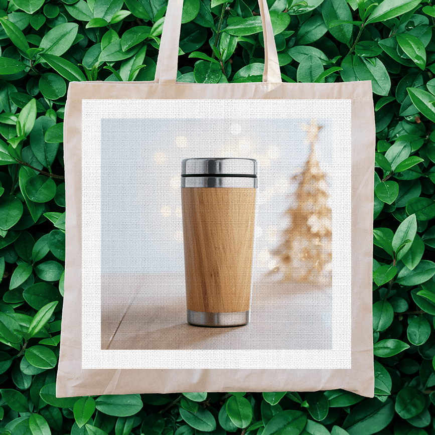eco-friendly promotional products image on a tote bag