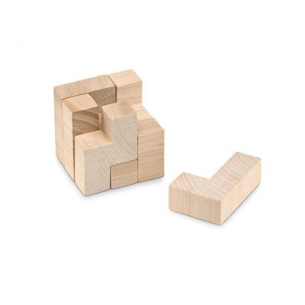 Puzzle écologique personnalisé avec pièces en bois