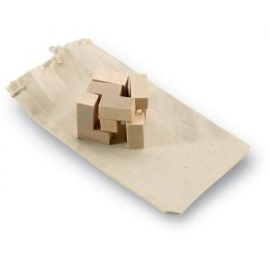Puzzle durable en bois avec pochette en coton écologique