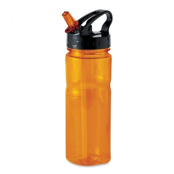 orange branded reusable water bottle with pp lid