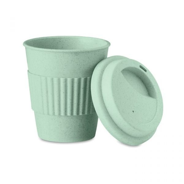 green promotional bamboo tumbler with lid