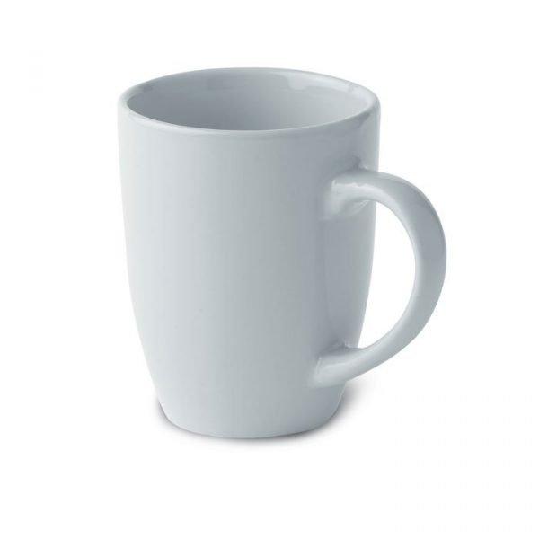 white promotional mug in ceramic
