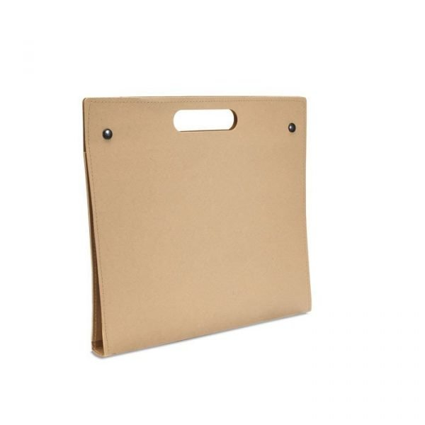 eco-friendly conference folder in sustainable carton
