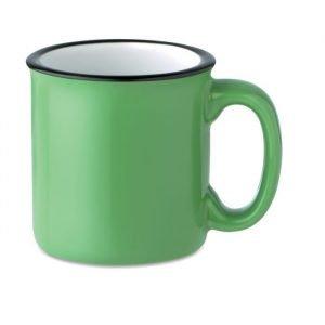 Tasse écologique en céramique verte personnalisée avec logo