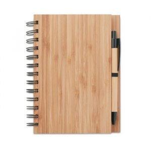 Cahier en Bambou écologique avec Stylo