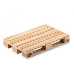 Sous-verre écologique en bois en forme de palette