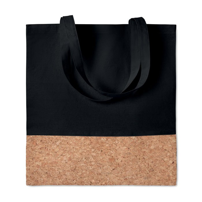 ecological branded tote bag in cotton and cork