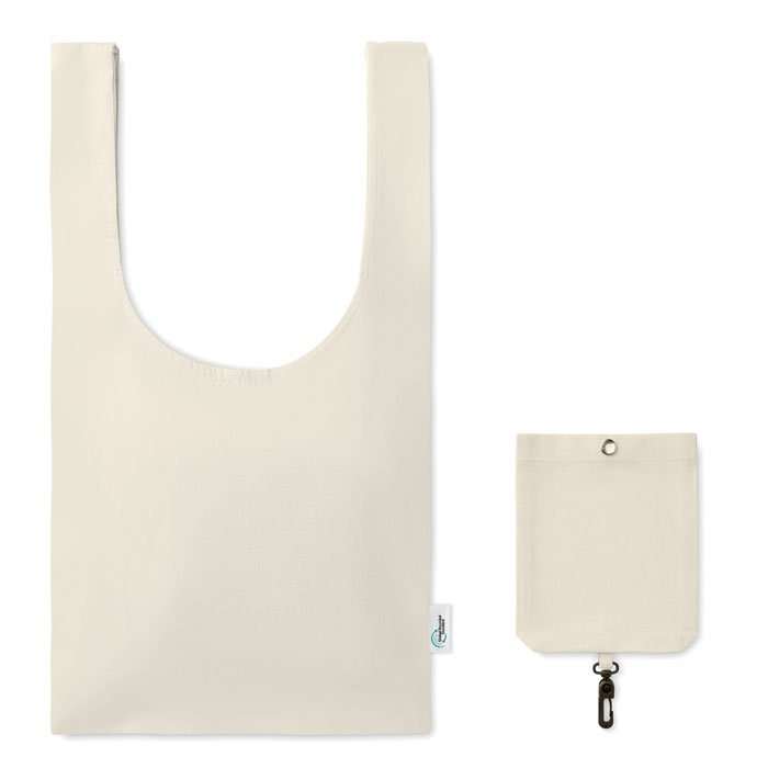 eco-friendly recycled branded bag with cotton pouch