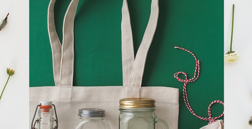 7 Eco-Friendly Promotional Items for Your Brand with a green background