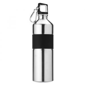stainless steel branded bottle with rubber grip