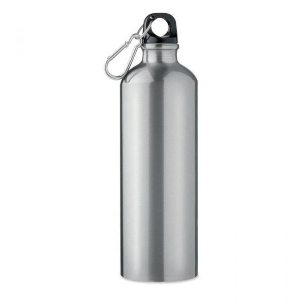 branded aluminium bottle with carabiner