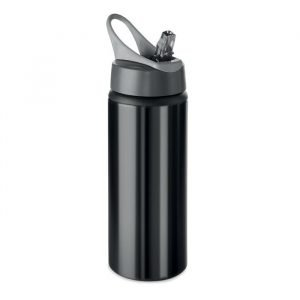 branded aluminium bottle with foldable mouthpiece