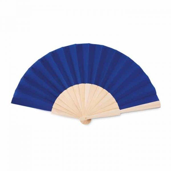 blue opened hand fan